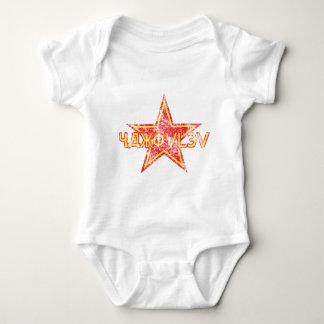 Estrella roja de Yakovlev llevada Body Para Bebé