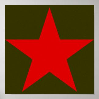 Estrella roja de Yugoslavia Póster