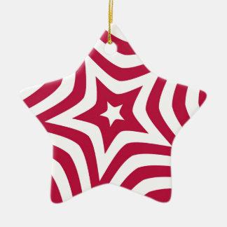 Estrella roja adorno de cerámica en forma de estrella