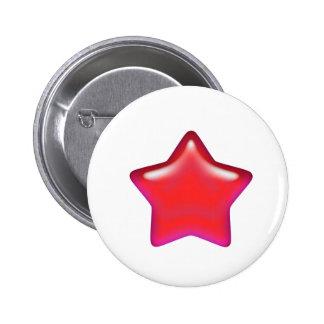 Estrella roja del amor pin redondo 5 cm