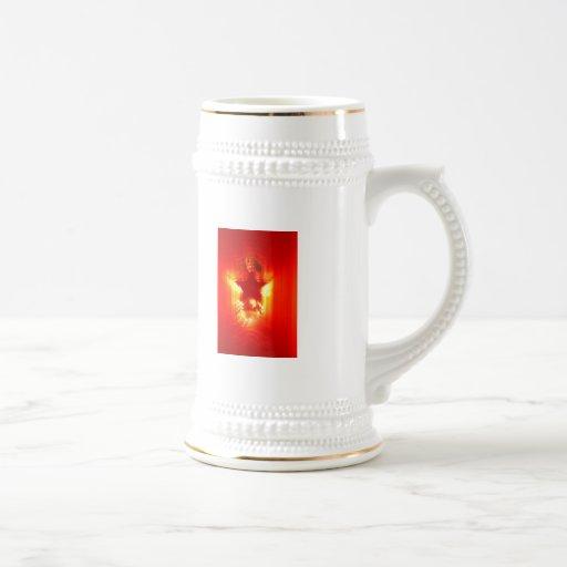 Estrella roja del navidad taza