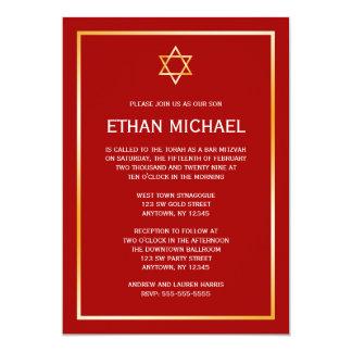Estrella roja del oro de las invitaciones de comunicados personales
