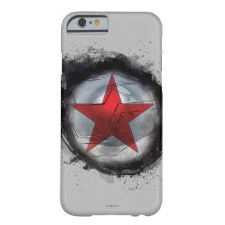Estrella roja del soldado del invierno funda de iPhone 6 barely there