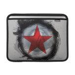 Estrella roja del soldado del invierno fundas MacBook