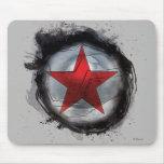Estrella roja del soldado del invierno tapetes de ratón