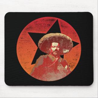 Estrella roja del vintage de Pancho Villa Mousepads