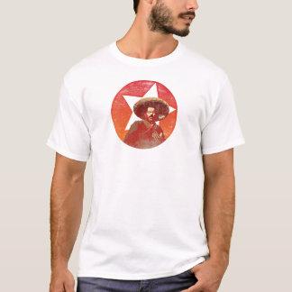 Estrella roja del vintage de Pancho Villa Playera