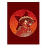 Estrella roja del vintage de Pancho Villa Tarjeta Postal