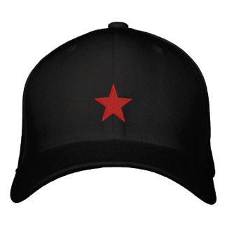 Estrella roja gorra bordada