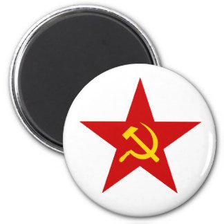 Estrella roja imán para frigorífico