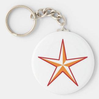 Estrella roja llavero personalizado