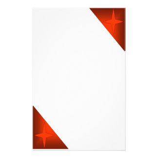 Estrella roja papelería de diseño