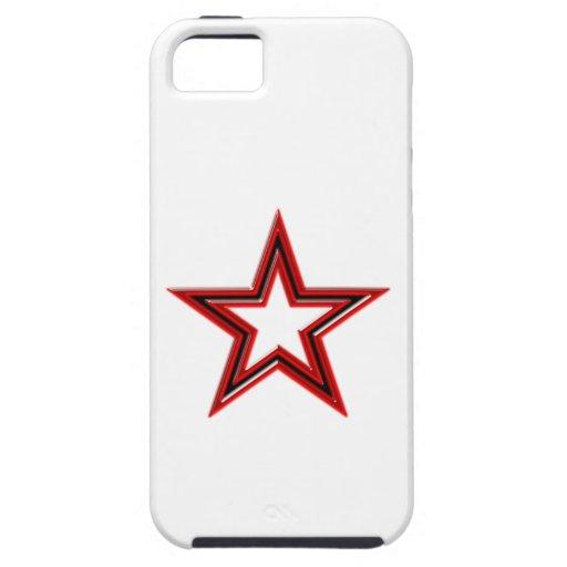 estrella roja Pentagramm hablas star pentagram Funda Para iPhone 5 Tough