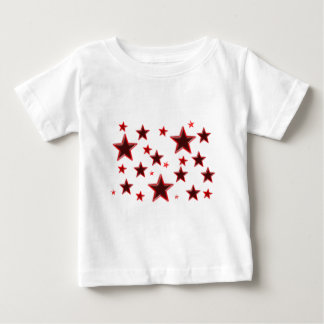 Estrella roja playera para bebé