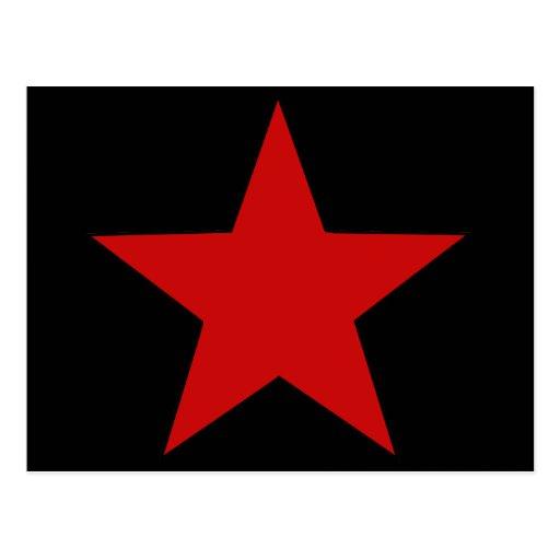 Estrella roja postal