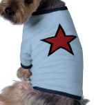 ¡Estrella roja! ¡Productcs rojos frescos de la est Camisas De Mascota