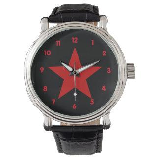 Estrella roja relojes