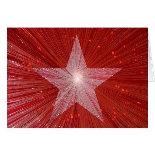"""Estrella roja tarjeta de felicitaciones de """"su tex"""