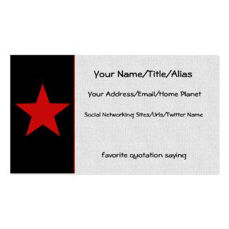 Estrella roja tarjetas de visita