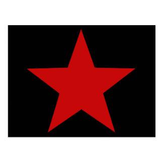 Estrella roja tarjetas postales