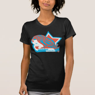 Estrella roja y azul de la Mujer Maravilla Camisetas