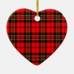 Estrella roja y verde de la tela escocesa ornamentos de navidad