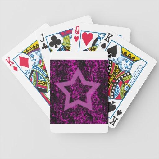 Estrella rosada cartas de juego