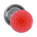 Estrella rosada de la mandala del Pin del botón de