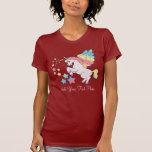 Estrella rosada del arco iris del unicornio camisetas