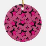 Estrella rosada design.jpg ornamento de navidad