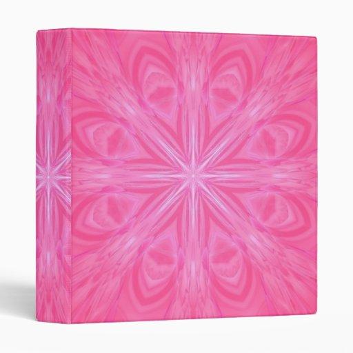 Estrella rosada estallada - carpeta multiusos