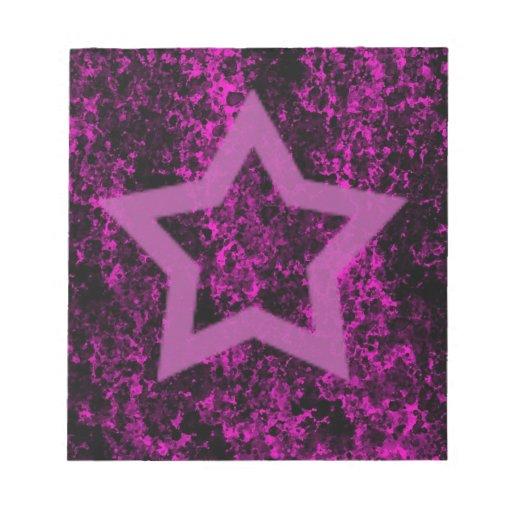 Estrella rosada libretas para notas