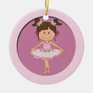Estrella rosada linda del ballet de la bailarina 3 ornamentos de reyes magos