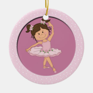 Estrella rosada linda del ballet de la bailarina 4 adornos