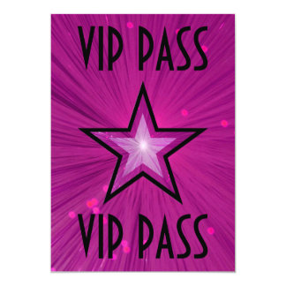"""Estrella rosada """"negro de la invitación del PASO"""