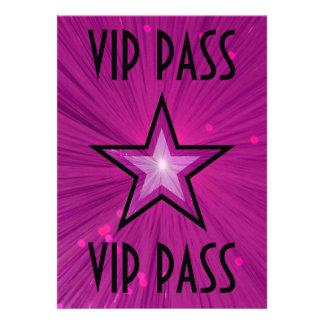 """Estrella rosada """"negro de la invitación del PASO d"""