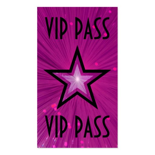 "Estrella rosada ""parte posterior del negro de la tarjetas de visita"