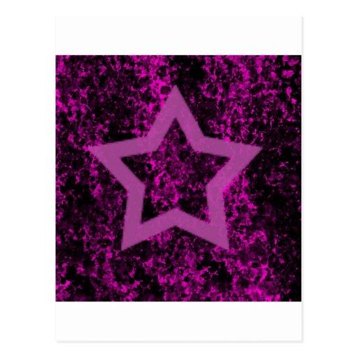 Estrella rosada postal