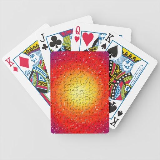 Estrella rota barajas de cartas