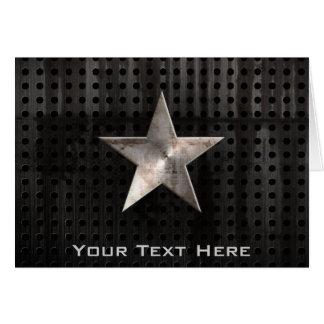 Estrella rugosa tarjeta de felicitación