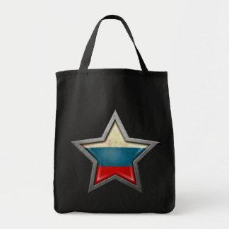 Estrella rusa de la bandera bolsa de mano