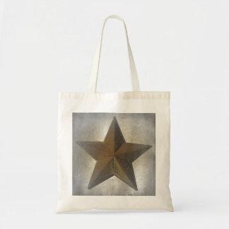 Estrella rústica bolsa tela barata