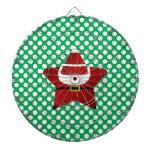 Estrella santa con los lunares verdes y rojos tablero de dardos