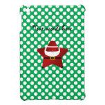 Estrella santa con los lunares verdes y rojos iPad mini fundas