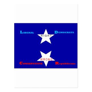 Estrella satánica postales