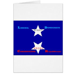 Estrella satánica tarjeta de felicitación