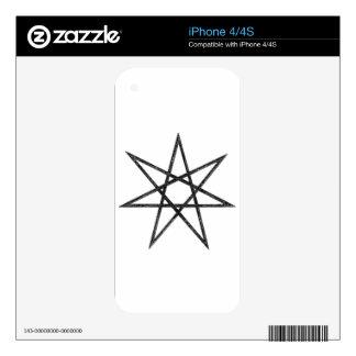 Estrella señalada 7 skins para eliPhone 4S