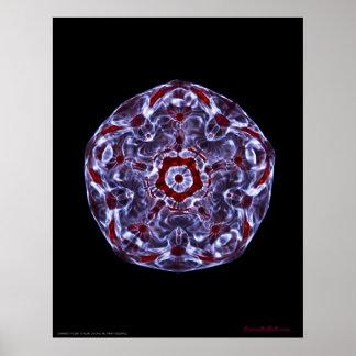 Estrella señalada de Cymatics cinco Posters