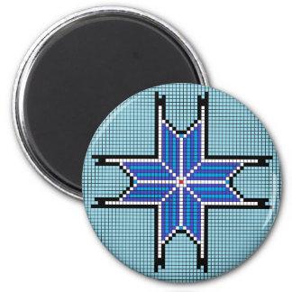Estrella señalada del azul 8 iman de nevera