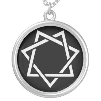 Estrella señalada siete colgante redondo